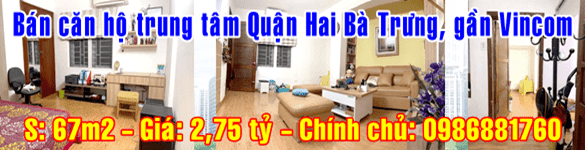 Bán căn hộ trung tâm Quận Hai Bà Trưng, gần Vincom Bà Triệu, view đường Mai Hắc Đế