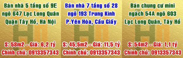 Chính chủ bán nhà phố Trung Kính, Cầu Giấy và Lạc Long Quân, Tây Hồ