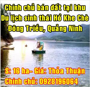 Chính chủ bán đất khu du lịch Sinh Thái Hồ Khe Chè, Đông Triều, Quảng Ninh