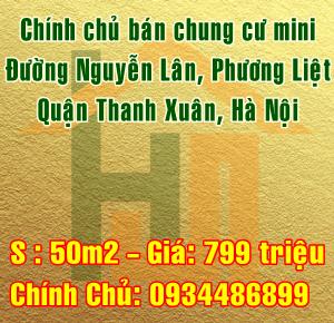 Chính chủ bán chung cư mini Đường Nguyễn Lân, Quận Thanh Xuân, Hà Nội
