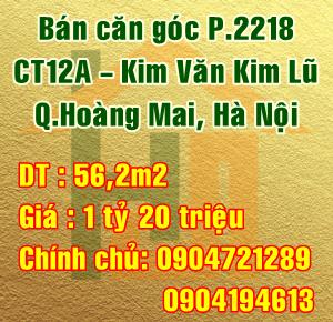 Chính chủ bán căn hộ P2218 - CT12A Kim Văn Kim Lũ, Quận Hoàng Mai, Hà Nội