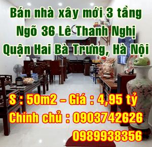 Cần bán nhà ngõ 36 Lê Thanh Nghị, Quận Hai Bà Trưng, Hà Nội