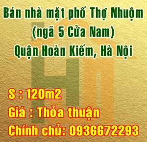 Cần bán nhà mặt phố Thợ Nhuộm (ngã 5 Cửa Nam), Hoàn Kiếm, Hà Nội