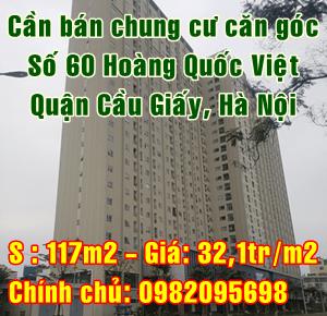 Bán chung cư trung tâm Quận Cầu Giấy, 60 Hoàng Quốc Việt