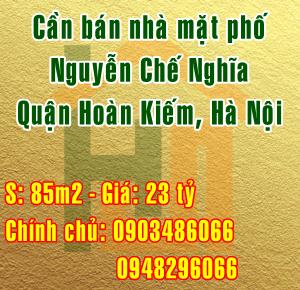 Bán nhà mặt phố 15 Nguyễn Chế Nghĩa, Quận Hoàn Kiếm, Hà Nội