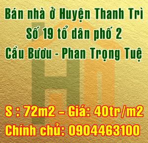 Bán nhà ở Huyện Thanh Trì, Hà Nội