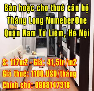 Bán hoặc cho thuê căn hộ Thăng Long NumeberOne, Quận Nam Từ Liêm, Hà Nội