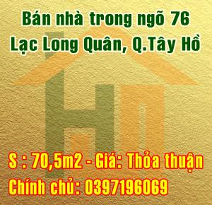 Bán nhà trong ngõ 76 đường Lạc Long Quân, Quận Tây Hồ