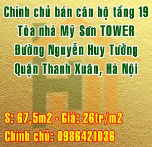 Bán căn hộ tầng 19 tòa Mỹ Sơn Tower, đường Nguyễn Huy Tưởng, Thanh Xuân