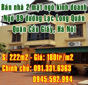 Bán nhà mặt ngõ kinh doanh, đường Lạc Long Quân, Cầu Giấy