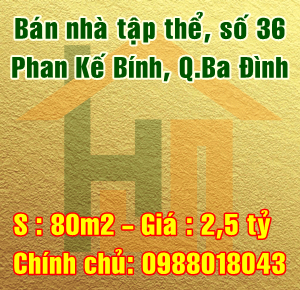 Bán nhà tập thể 36 Phan Kế Bính, Cống Vị, Quận Ba Đình