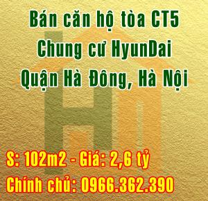 Bán căn hộ tòa CT5, Chung cư HyunDai hillstate Hà Đông, Hà Nội