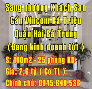 Sang nhượng Khách sạn, Quận Hai Bà Trưng, gần Vincom Bà triệu