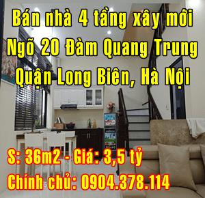Bán nhà ngõ 20 Đàm Quang Trung, Quận Long Biên