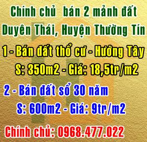 Chính chủ bán đất tại Huyện Thường Tín, Xã Duyên Thái