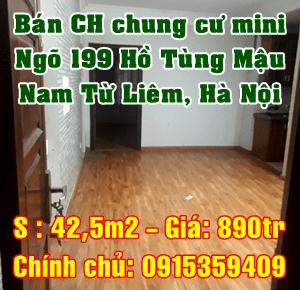 Bán chung cư mini ngõ 199 Hồ Tùng Mậu, Nam Từ Liêm, Hà Nội