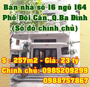Bán nhà Quận Ba Đình, số 16 ngõ 164 Đội Cấn, Phường Đội Cấn