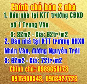 Bán nhà Quận Thanh Xuân, Quận Nam Từ Liêm,đường Nguyễn Trãi & Trung Văn