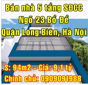 Chính chủ bán nhà nhà ngõ 23 Bồ Đề, Quận Long Biên, Hà Nội