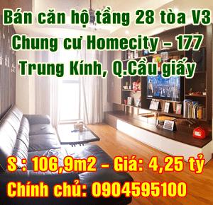Bán chung cư Homecity, 177 Trung Kính, Yên Hoà, Quận Cầu Giấy