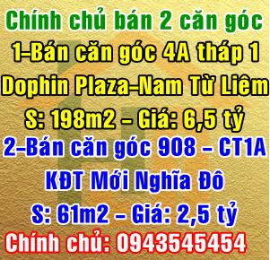 Bán căn hộ Dolphin Plaza & căn hộ tòa CT1A  Khu đô thị mới Nghĩa Đô