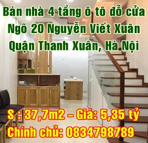 Bán nhà Quận Thanh Xuân, ngõ 20 phố Nguyễn Viết Xuân