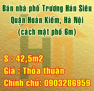 Cần bán nhà phố Trương Hán Siêu, Quận Hoàn Kiếm (cách mặt phố 6m)