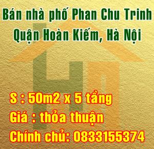 Bán nhà Quận Hoàn Kiếm, phố Phan Chu Trinh