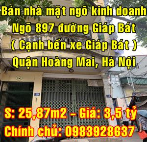 Bán nhà số 17 ngõ 897 đường Giải Phóng, Quận Hoàng Mai (cạnh bến xe Giáp Bát)