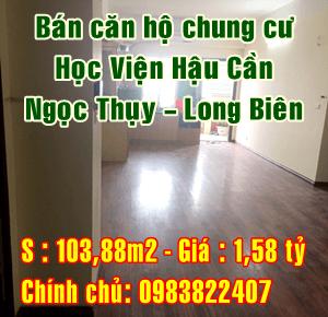 Bán căn hộ tầng 17 chung cư Học viện Hậu Cần, Ngọc Thụy, Long Biên