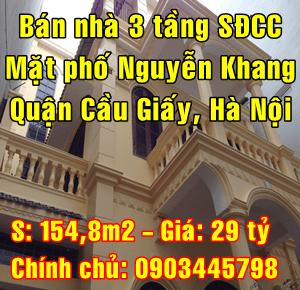 Bán nhà Quận Cầu Giấy, Mặt đường phố Nguyễn Khang, số 187
