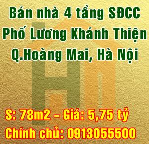Bán nhà Quận Hoàng Mai, Số 6 ngõ 12/13 Lương Khánh Thiện