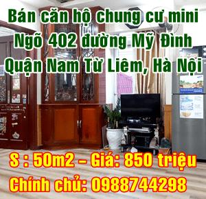 Chính chủ bán chung cư mini ngõ 402 đường Mỹ Đình, Quận Nam Từ Liêm