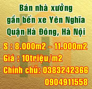 Bán nhà xưởng gần bến xe Yên Nghĩa, Quận Hà Đông, Hà Nội