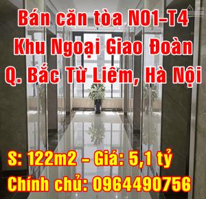 Bán căn hộ chung cư N01 - T4 khu Ngoại Giao Đoàn, Bắc Từ Liêm, Hà Nội.