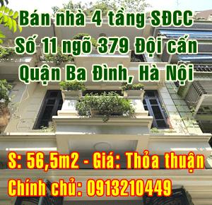 Chính chủ bán nhà số 11 ngõ 379 Đội Cấn, Quận Ba Đình, Hà Nội