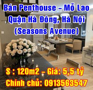 Bán Penthouse Quận Hà Đông, Chung cư Seasons Avenue Mỗ Lao