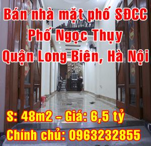 Chính chủ bán nhà  mặt phố đường Ngọc Thụy, Quận Long Biên, Hà Nội