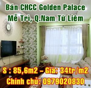Bán căn hộ chung cư Golden Palace, Phường Mễ Trì, Quận Nam Từ Liêm