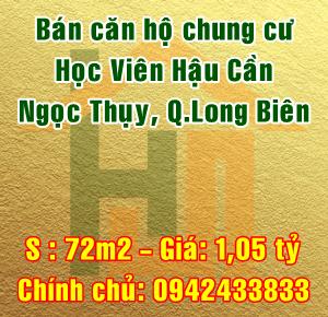 Bán căn hộ chung cư Học Viện Hậu Cần, Đường Ngọc Thụy, Quận Long Biên