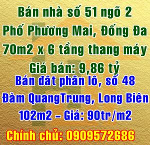 Bán nhà 51 ngõ 2 phố Phương Mai, Quận Đống Đa, Hà Nội