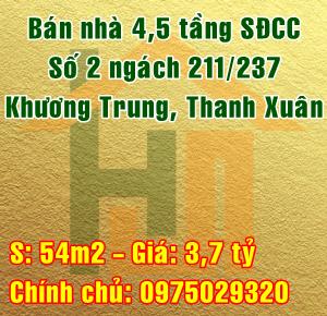 Bán nhà số 2 ngách 211/237 Khương Trung, Quận Thanh Xuân, Hà Nội