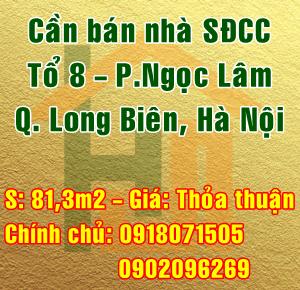 Bán nhà Quận Long Biên, số 12 ngách 66/11 đường Ngọc Lâm, tổ 8, Phường Ngọc Lâm