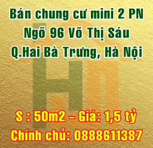 Chính chủ bán chung cư mini P201 ngõ 96 Võ Thị Sáu, Quận Hai Bà Trưng