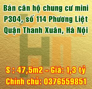 Bán chung cư mini, P304 - 114 phố Phương Liệt, Quận Thanh Xuân