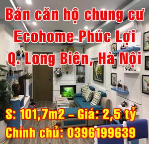 Chính chủ bán căn hộ chung cư Ecohome Phúc Lợi, Long Biên, Hà Nội