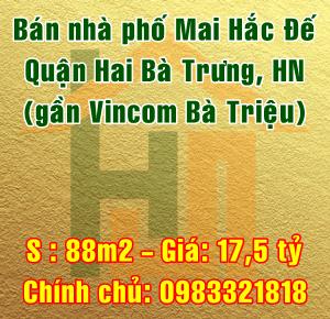 Bán nhà phố Mai Hắc Đế, phường Bùi Thị Xuân, Quận Hai Bà Trưng