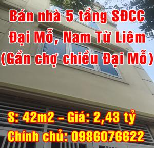 Chính chủ bán nhà đất xây mới tại Phường Đại Mỗ, Quận Nam Từ Liêm, Hà Nội