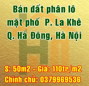 Bán đất phân lô mặt phố, Phường La Khê, Quận Hà Đông, Hà Nội