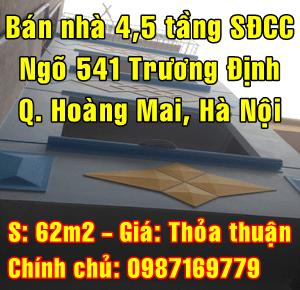 Chính chủ cần bán nhà Quận Hoàng Mai, Số 6 ngõ 541 Trương Định